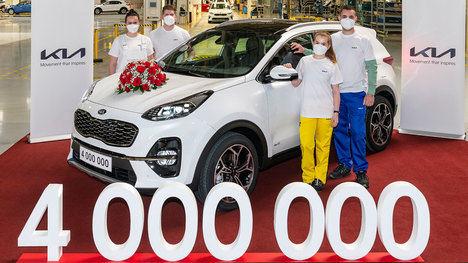 La fábrica europea de Kia alcanza los cuatro millones de unidades