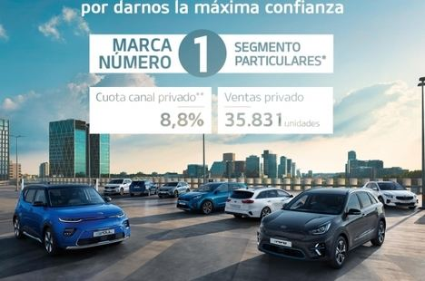 Kia Motors Iberia cierra 2020 como la marca más vendida en el canal de particulares