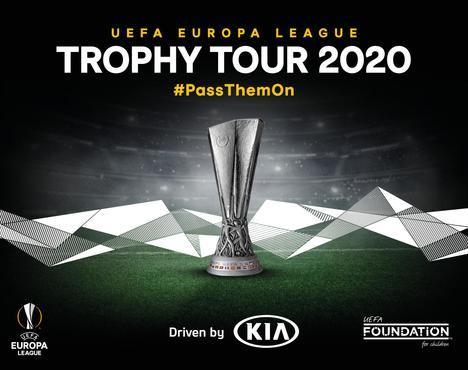 """El """"Tour del Trofeo de la UEFA Europa League, conducido por Kia"""" regresa en 2020"""