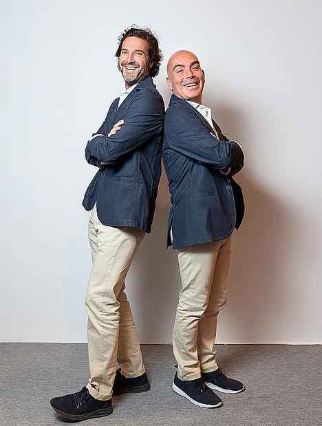 Kike Sarasola (dcha) y Javier Goyeneche.