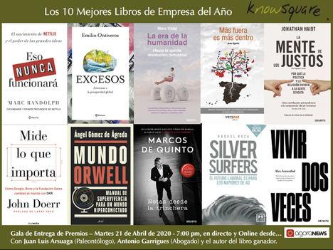 Estos son los 10 mejores libros de empresa, finalistas de la IX edición del Premio Know Square