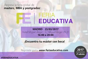 La 2ª edición de FERIA EDUCATIVA arranca en Madrid el próximo 23 de marzo
