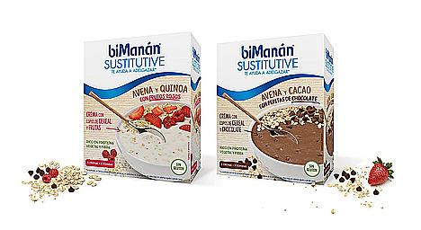 La Bendita Agencia diseña los packs de las nuevas cremas de cereales y semillas de Bimanán Sustitutive
