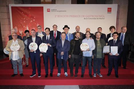 La Comunidad de Madrid distingue la calidad y excelencia de la gastronomía madrileña