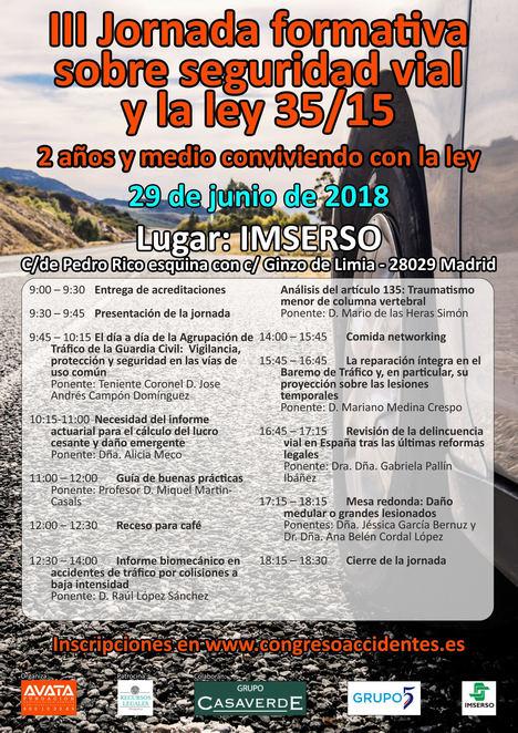 La Fundación Avata organiza las III Jornadas sobre seguridad vial y la ley 35/15