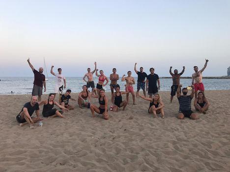 La cadena deportiva Distrito Estudio presenta en Barcelona su entrenamiento Beach Wod