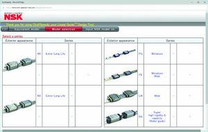 La herramienta de diseño Click!Speedy de NSK permite a los usuarios crear un diseño personalizado de guías lineales NSK con especificaciones detalladas.