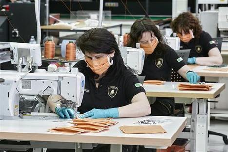 Lamborghini fabrica mascarillas y viseras de protección