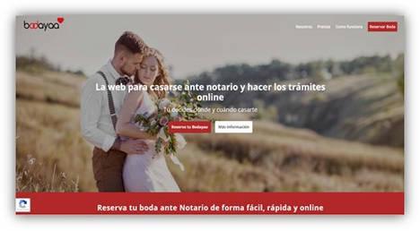 Lanzan Bodayaa, el primer servicio online totalmente especializado en bodas ante notario