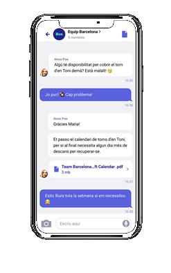 Lanzan la alternativa a WhatsApp para los empleados que no trabajan frente al ordenador