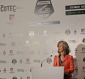 La presidenta de Cotec, Cristina Garmendia, durante su intervención.