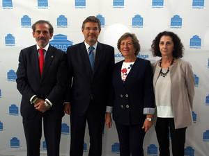 Lara, Catalá, González y Blasco, en la presentación de la plataforma