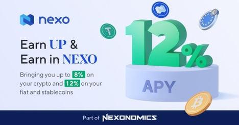 Nexo duplica las ganancias con las tasas de interés de las criptomonedas
