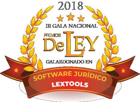 LexTools, por su exitosa trayectoria, fue galardonada en la III Gala Nacional de Premios de Ley 2018