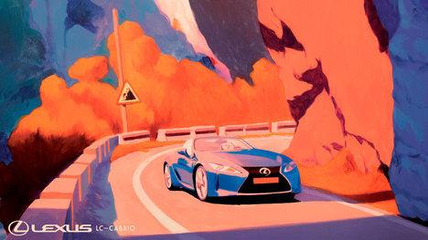 El LC Cabrio, recreado por Lexus, finalista en el Concurso del Mejor Póster de Viaje