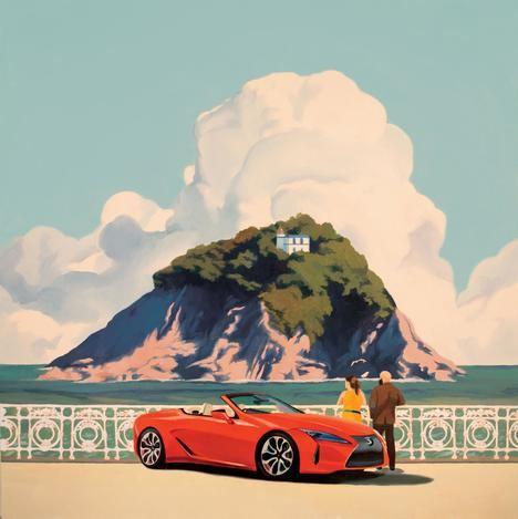 Lexus presenta una colección de postales del LC Cabrio