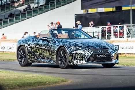 Lexus presenta el prototipo LC descapotable