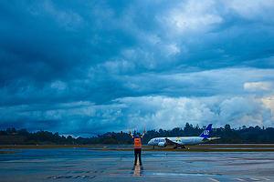 Llegada del Dreamliner a Medellín.