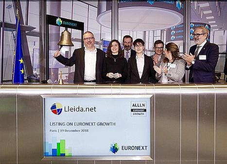 Euronext da la bienvenida a Lleida.net, el primer dual listing de una tecnológica española en Euronext Growth