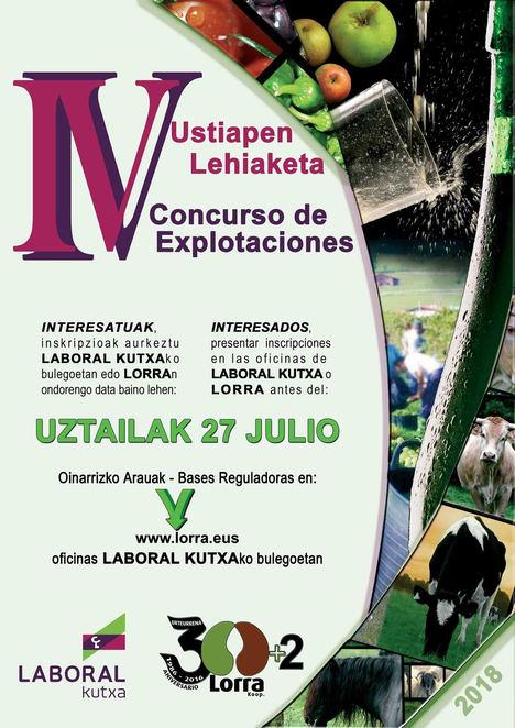 Lorra y Laboral Kutxa convocan el IV Concurso de Explotaciones de Bizkaia