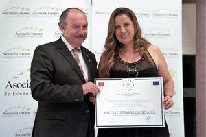 Malena Events & Catering recibe la Medalla Europea al Mérito en el Trabajo otorgada por la AEDEEC