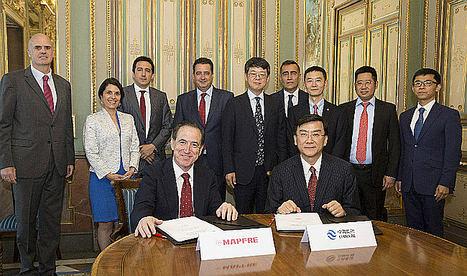 MAPFRE firma un acuerdo de colaboración con China Re para el aseguramiento de infraestructuras dentro de la Nueva Ruta de la Seda que promueve China