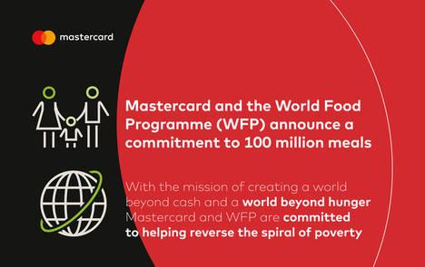 Mastercard donará 100 millones de comidas al World Food Programme
