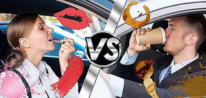 El pintalabios y el café, nueva 'batalla' entre mujeres y hombres por saber quién mancha más el coche