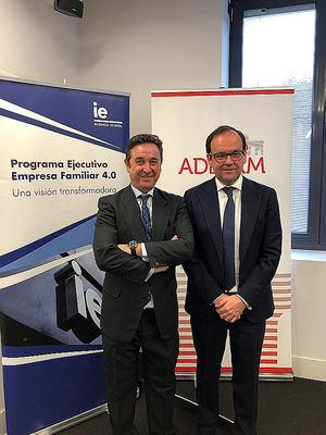 Manuel Bremejo, director académico del Programa Ejecutivo Empresa Familiar 4.0 del IE, y el presidente de ADEFAM, Alberto Zolio Álvarez.