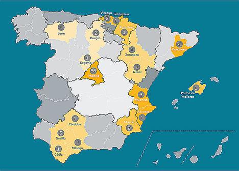 Mapa candidaturas Premio Impulso al Empleo Juvenil.