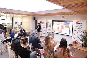 Mar Garre, Directora de Personas y Comunicación Interna de Línea Directa en la presentación.