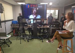 Marta Sevila, Directora de Eventos de IFMA España durante el WORKPLACE SUMMIT.