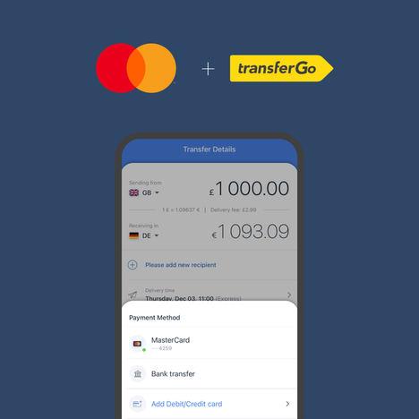 TransferGo y Mastercard facilitan los pagos transfronterizos en Europa de forma rápida, sencilla y segura