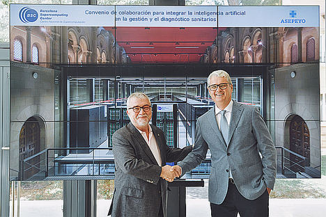 Asepeyo y Barcelona Supercomputing Center (BCS) firman un acuerdo para implantar proyectos de e-salud