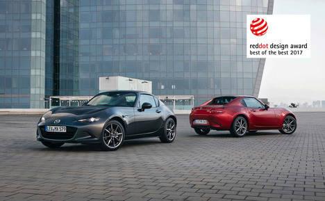 El Mazda MX-5 RF recibe el máximo galardón en los premios Red Dot