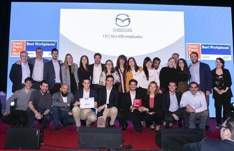Mazda España, premiada como mejor empresa de automoción para trabajar