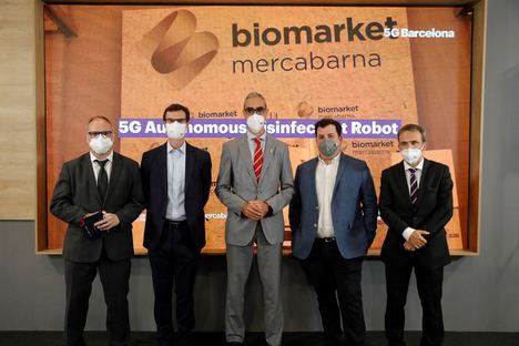 Mercabarna reforzará la desinfección de los mercados contra el Covid-19 con un robot autónomo 5G