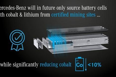 Mercedes sólo producirá celdas de batería con cobalto y litio