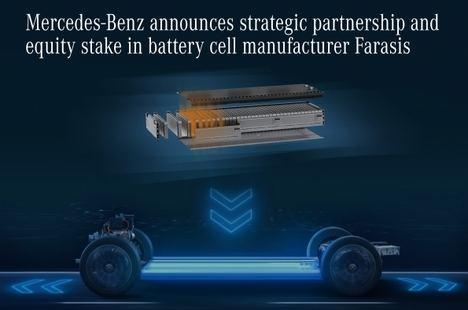 Asociación estratégica entre Mercedes y el fabricante de baterías Farasis