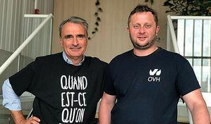 Michel Paulin y Octave Klaba.