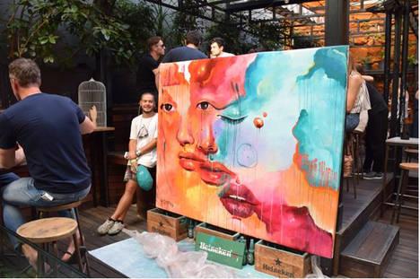 El artista extremeño Misterpiro desata pasiones en la Segunda Edición del Street Art & Food Festival en el Mercado de San Ildefonso