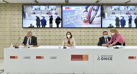 Corporación MONDRAGON y Grupo Social ONCE se unen para impulsar formación, empleo y tecnología