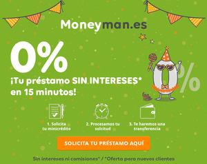 Moneyman lanza el primer préstamo de hasta 300€ sin intereses