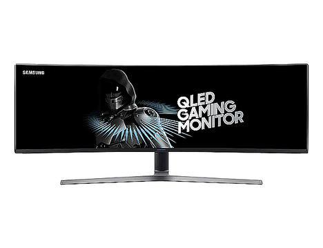 "Monitor QLED curvo 49"" C49HG90DMU."