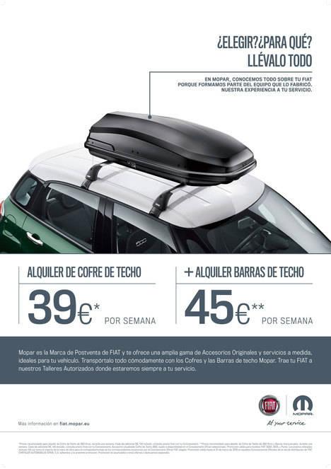 Mopar, Grupo Fiat, soluciona tus problemas de espacio para los viajes de invierno