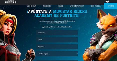Movistar inaugura Movistar Riders Academy de Fortnite