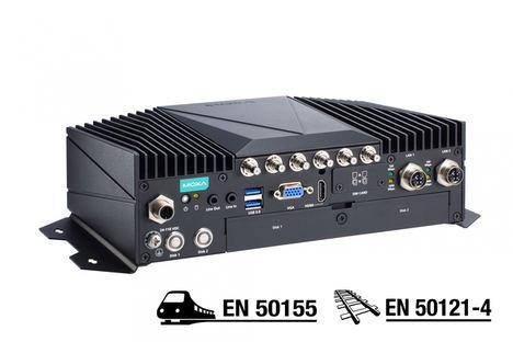 Moxa presenta ordenadores de alto rendimiento para el sector ferroviario con conectividad robusta Multi-WWAN para las aplicaciones a bordo y de vía