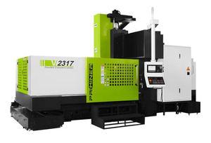 Centro de mecanizado vertical de doble columna de alta rigidez y precisión para varias aplicaciones.