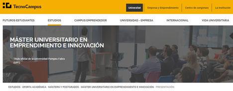 El máster en Emprendimiento e Innovación del TecnoCampus-UPF, entre los mejores de Europa