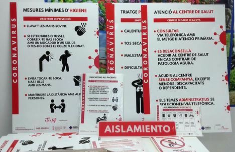 Grupo Industrias Saludes dona más de 7.000 señales a los hospitales valencianos durante la pandemia